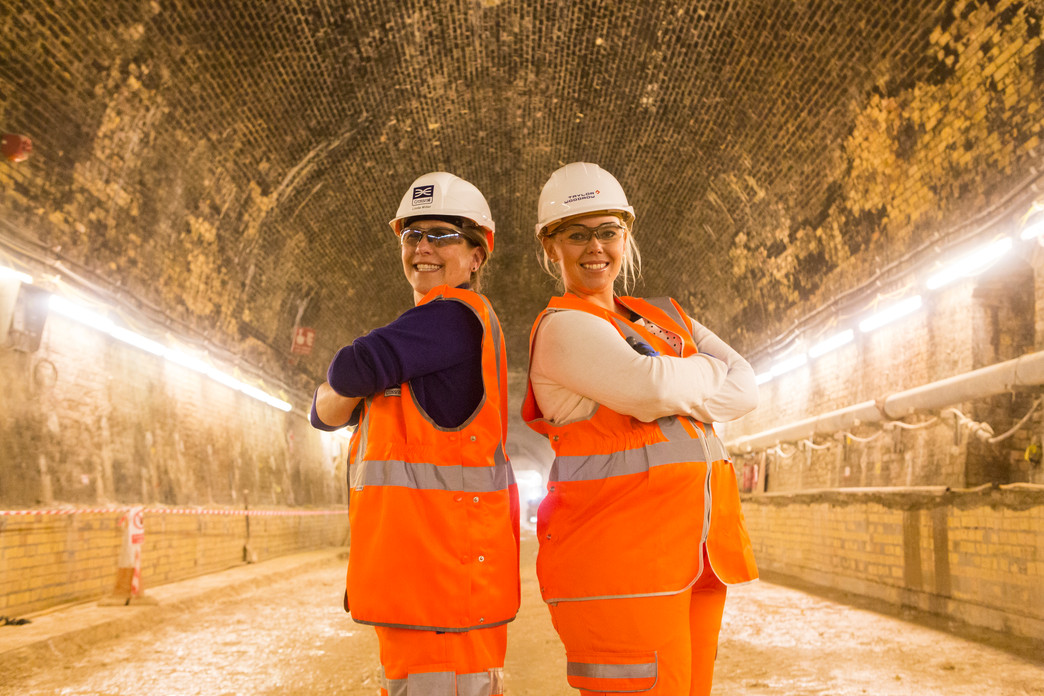 Connaught Tunnel Project Manager Linda Miller and Shift Engineer Alex Mitchell_150136