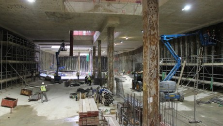 Excavation of first Crossrail station nears completion