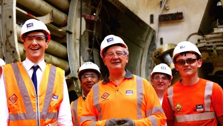 Chancellor unveils Crossrail�s new tunnels under the Thames