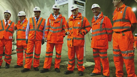 Construction of Crossrail at half way point � in pictures