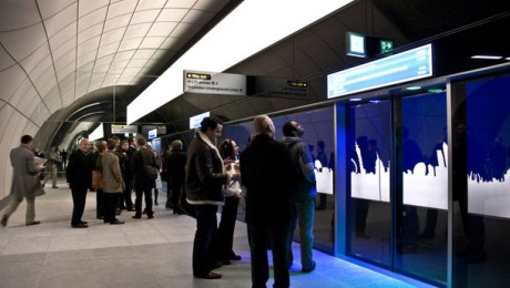 Glimpse of the future as mock-up Crossrail station revealed