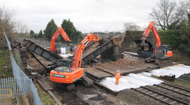 Demolition of Trenches bridge in Slough_57651