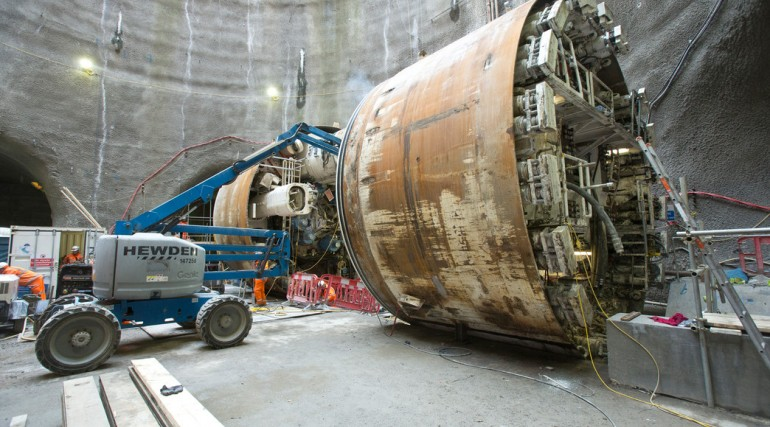 TBM Jessica re-assembled at foot of Limmo Peninsula shaft_133763
