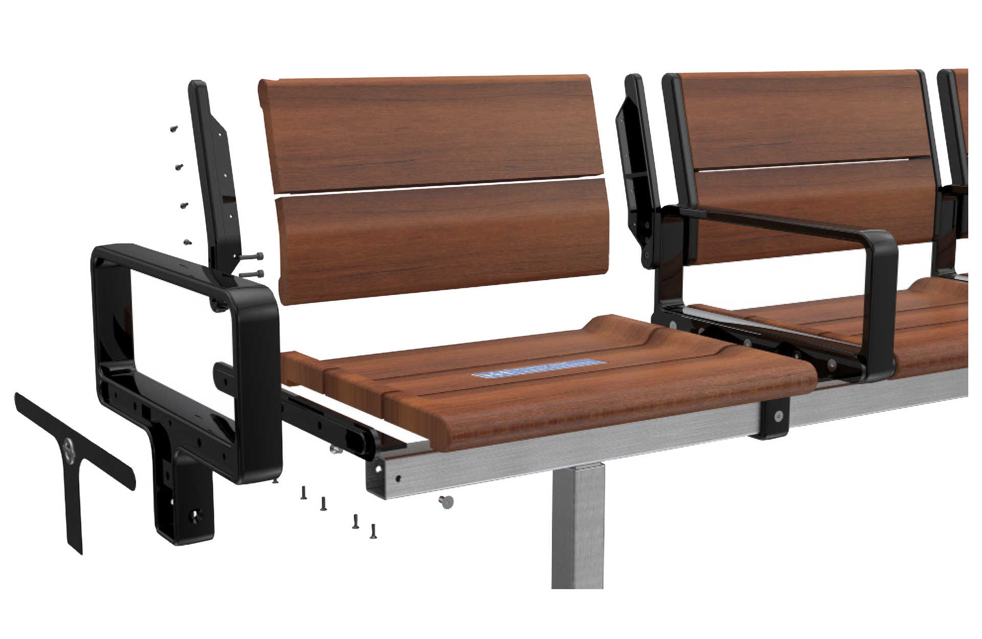 Design prototype of new timber seats for the Elizabeth line_236334