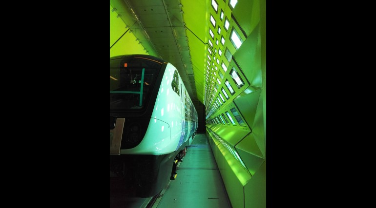 Elizabeth line train Climatic Wind Tunnel testing
