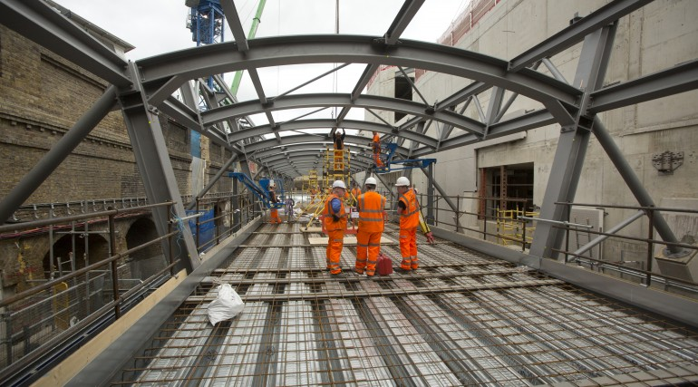 Steel-frame that will become part of the green roof at Whitechapel station_245687