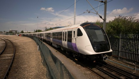 First Elizabeth line train takes to the test track