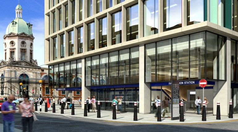 Farringdon station - architects impression of proposed oversite development at Lindsey Street_69222