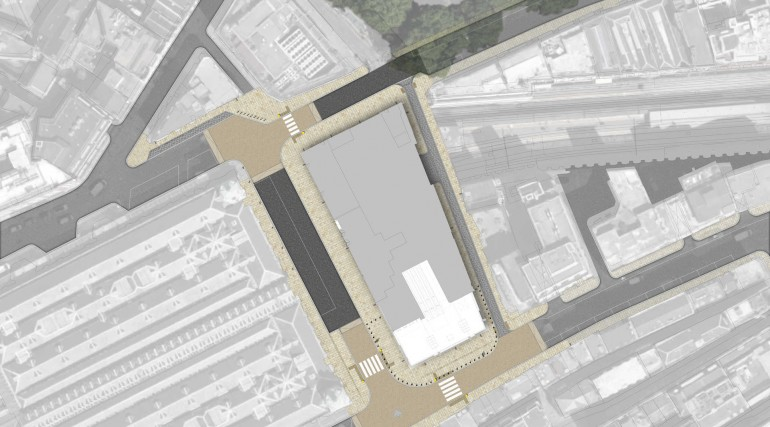 Farringdon Station - Lindsay Street ticket hall urban realm aerial plan_138990