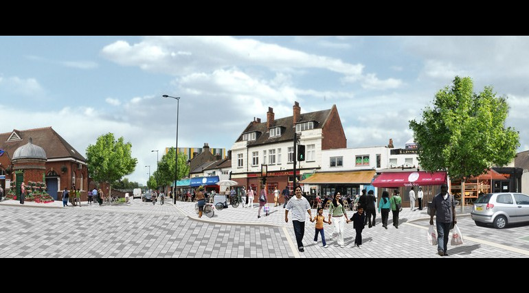 Forest Gate Station - architects impression of proposed urban realm_138935