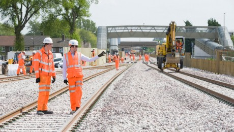 First new Crossrail tracks laid in southeast London
