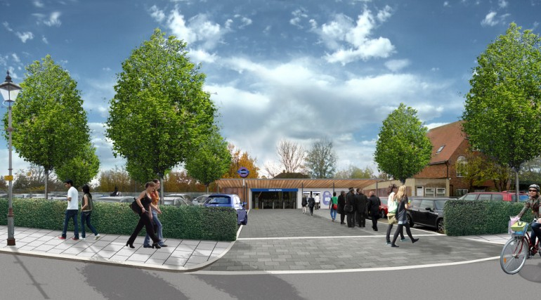 Gidea Park Station - architects impression of proposed urban realm_138976