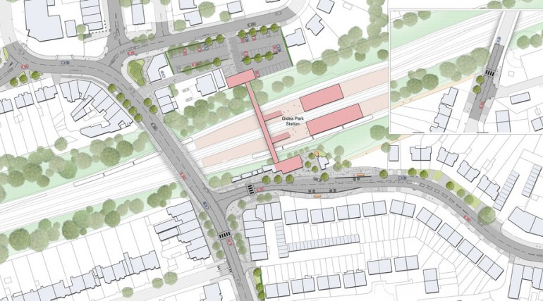 Gidea Park Station - plan of proposed urban realm_138997
