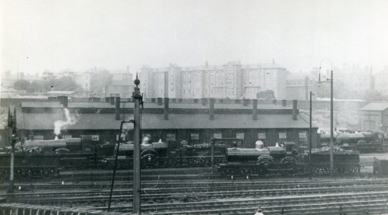 Great Western Railway Trust images of Brunel_s engine shed at Paddington Yard_158009