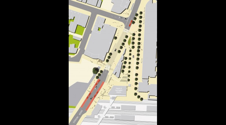 Hayes & Harlington Station - plan of proposed urban realm_140784