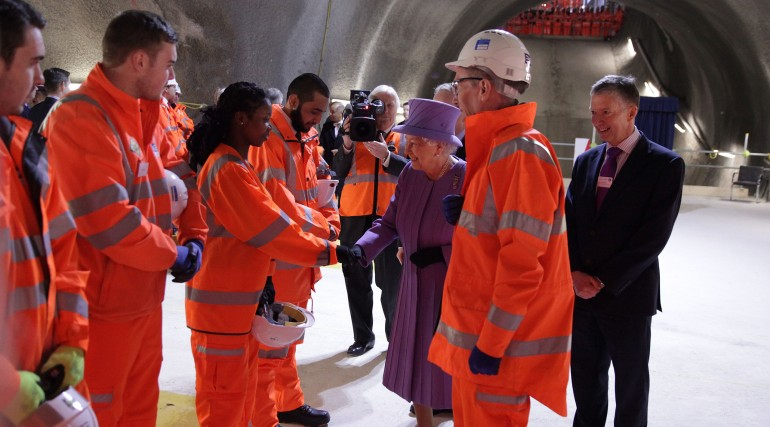 Her Majesty the Queen visits the under-construction Crossrail station at Bond Street_227826