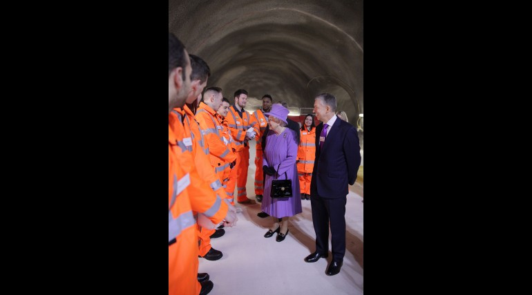 Her Majesty the Queen visits the under-construction Crossrail station at Bond Street_227830