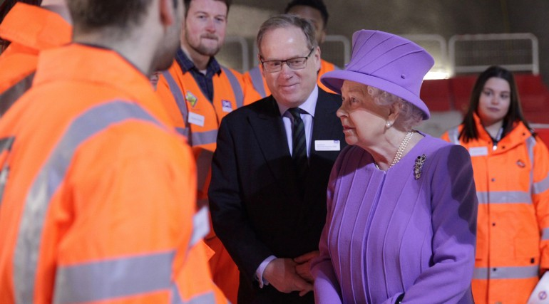 Her Majesty the Queen visits the under-construction Crossrail station at Bond Street_227832