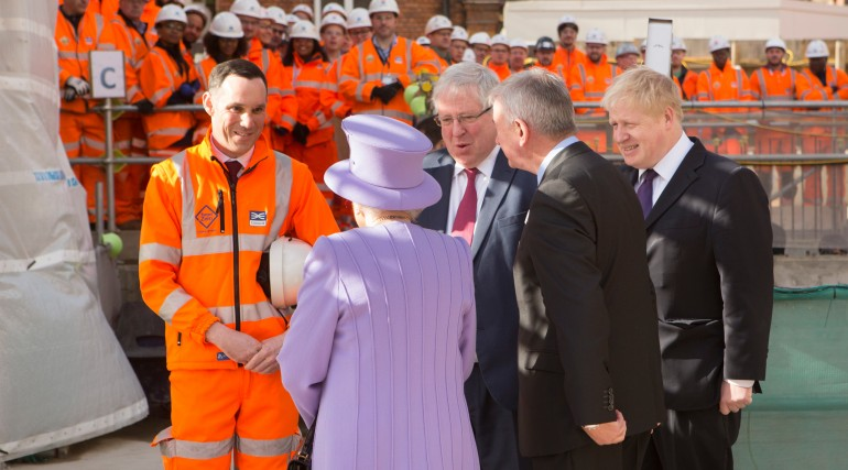 Her Majesty the Queen visits the under-construction Crossrail station at Bond Street_227860