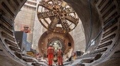 Building the rail tunnels