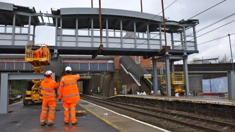 New footbridge and longer platforms for Harold Wood station