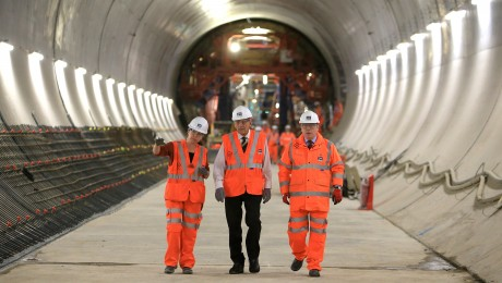 HRH The Duke of Edinburgh visits Farringdon Crossrail station