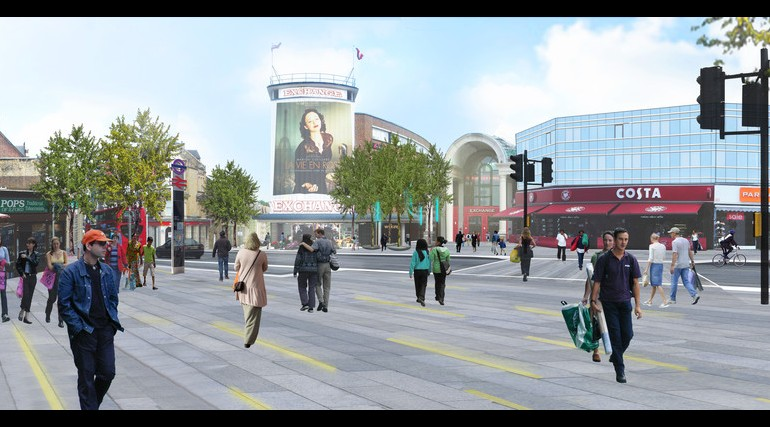 Ilford Station - architects impression of proposed urban realm_139014