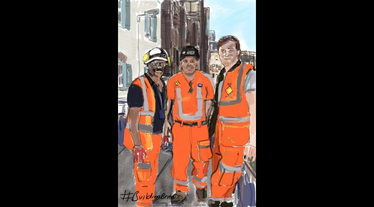 Farringdon site workers