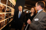 Rob Holden, Mayor Boris Johnson and Transport Minister Theresa Villiers at NLA exhibition
