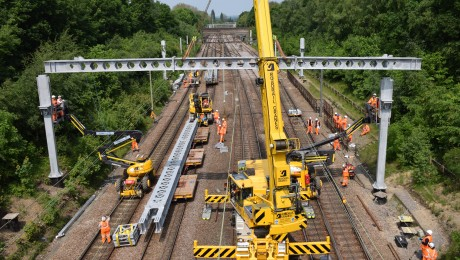 Crossrail project works successfully delivered by Network Rail over Spring bank holiday weekend