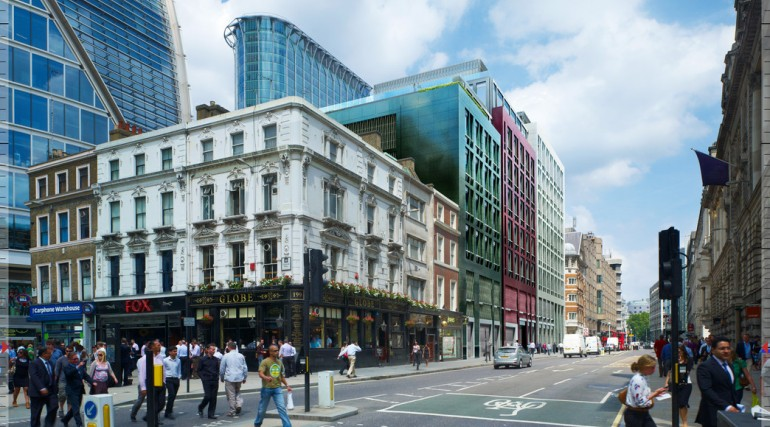 Liverpool Street Station - proposed oversite development at 101 Moorgate
