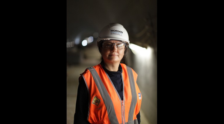 Maryam Karbasi - Assistant Surveyor working for Morgan Sindall at Crossrail's Pudding Mill Lane_2119
