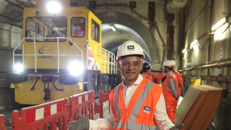 Sadiq Khan rides Elizabeth line route to mark Crossrail reaching 75 per cent complete