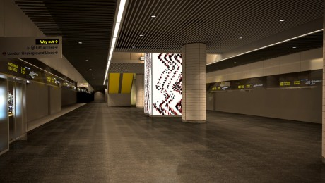 Canary Wharf Crossrail Art unveiled