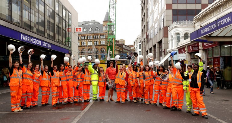 Transport Minister meets the female engineers building London's transport network