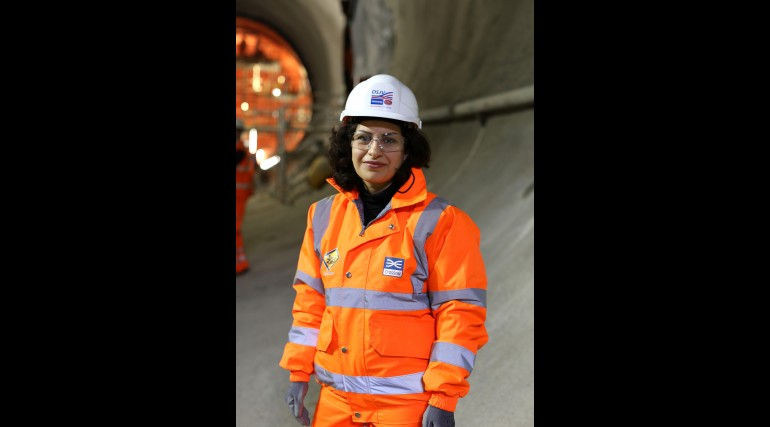 Narges Afshari - Ground Settlement Engineer working for Dragados at Crossrail's Eastern Running Tunn