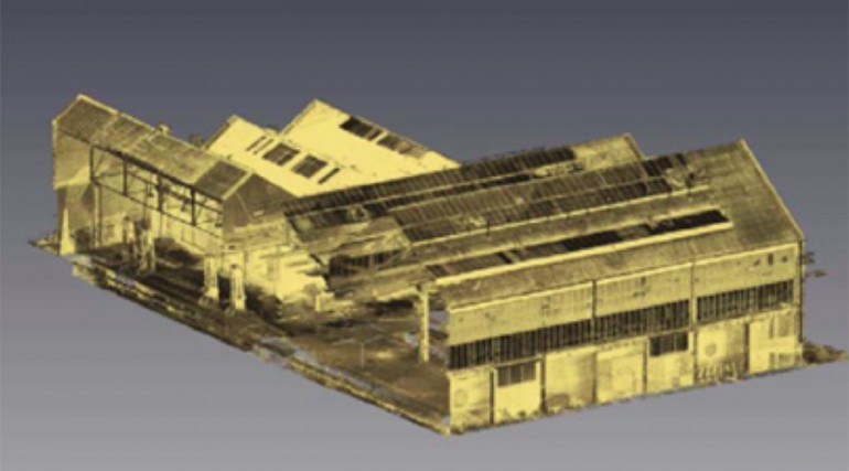 Laser scan of Old Oak Common's Great Western Railway (GWR) locomotive depot