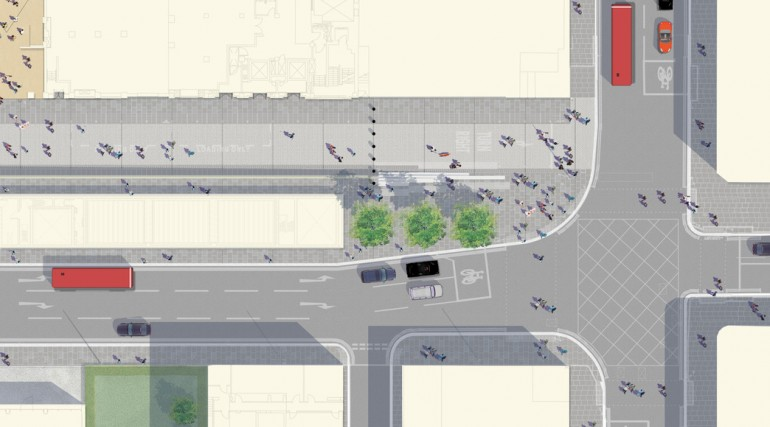 Paddington Station - plan of proposed urban realm Praed Street plaza_139020