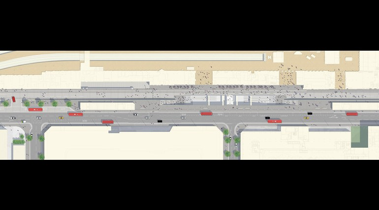 Paddington Station - plan of proposed urban realm scheme_139021