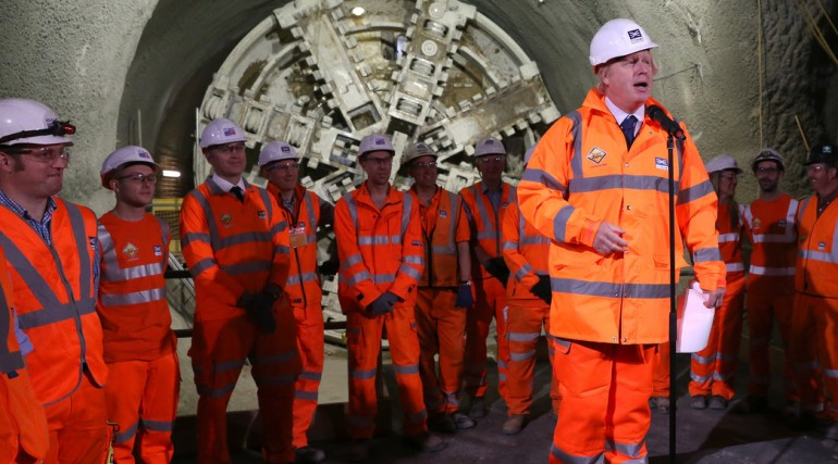 Prime Minister and Mayor of London celebrate completion of Crossrail_s tunnelling marathon_200348