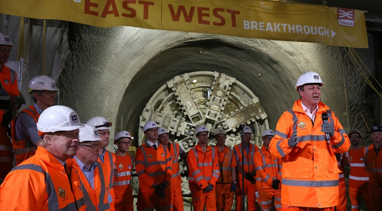 Prime Minister and Mayor of London celebrate completion of Crossrail_s tunnelling marathon_200350