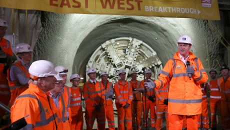 Prime Minister and Mayor of London celebrate completion of Crossrail�s tunnelling marathon