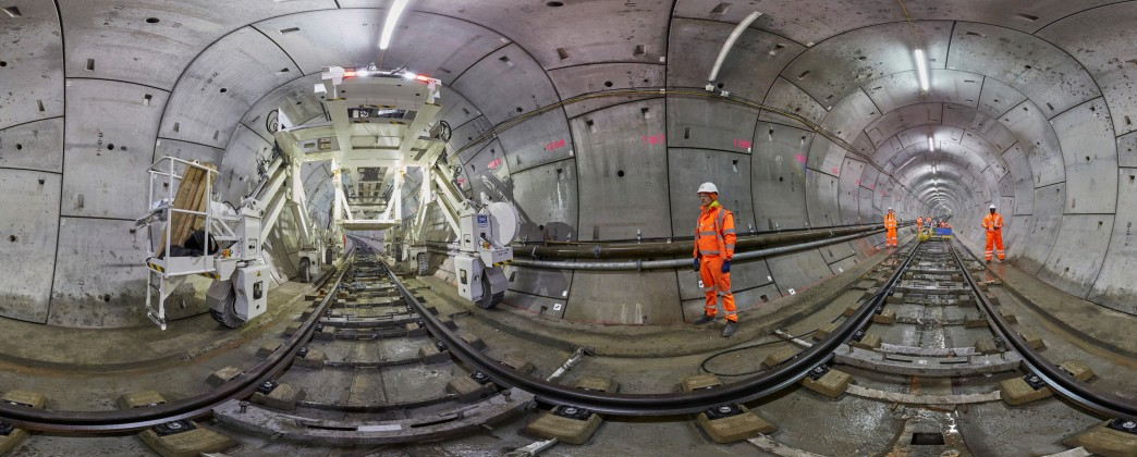 First permanent track installed in Crossrail tunnels