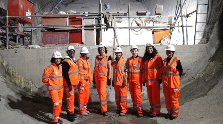 Rail Minister Claire Perry MP meets women working on Crossrail_212019