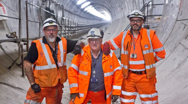 Record breaking tunneller Peter Bermingham tunnels under the Thames for record tenth time_137140