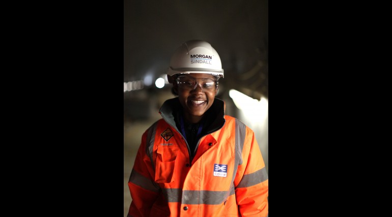 Shamain Dillon - Health and Safety Assistant working for Morgan Sindall at Crossrail's Pudding Mill