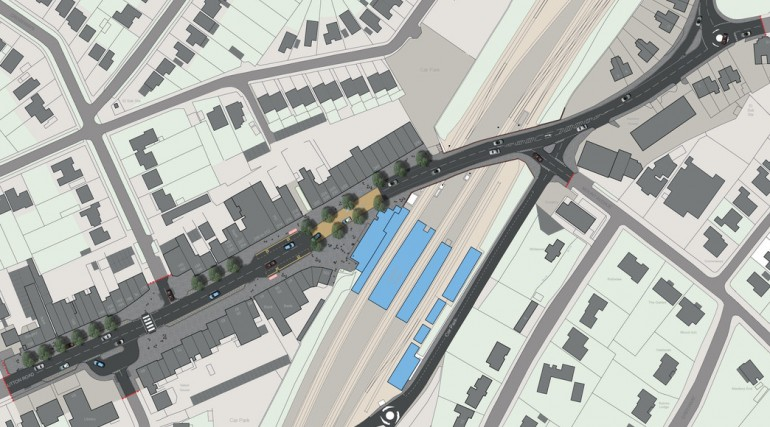 Shenfield Station - plan of proposed urban realm_140786