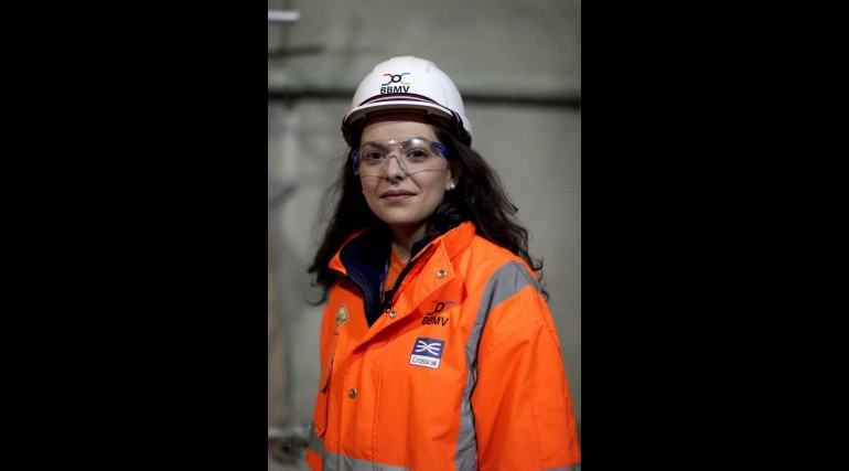Stamatia Kantziari - Monitoring and Surveyor working for Morgan Sindall at Crossrail Whitechapel sta