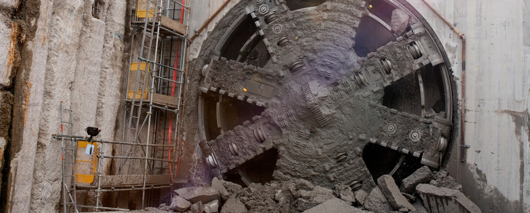 TBM Jessica breaks through into Victoria Dock Portal