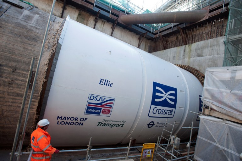 Crossrail's eighth tunnel boring machine launches in east London